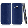 IMAK Squirrel Lines Leather Cases Support Holster Covers for HTC One mini 2 M8 mini - Blue