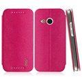 IMAK Squirrel Lines Leather Cases Support Holster Covers for HTC One mini 2 M8 mini - Rose