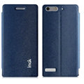 IMAK Squirrel Lines Leather Cases Support Holster Covers for Huawei Ascend G6 - Blue