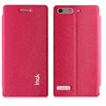 IMAK Squirrel Lines Leather Cases Support Holster Covers for Huawei Ascend G6 - Rose
