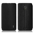 IMAK Squirrel Lines Leather Cases Support Holster Covers for Huawei Ascend Mate 2 MT2 - Black