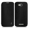 IMAK Squirrel Lines Leather Cases Support Holster Covers for Huawei B199 - Black