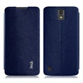 IMAK Squirrel Lines Leather Cases Support Holster Covers for Huawei G716 - Blue