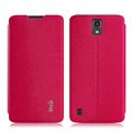 IMAK Squirrel Lines Leather Cases Support Holster Covers for Huawei G716 - Rose