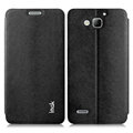 IMAK Squirrel Lines Leather Cases Support Holster Covers for Huawei G750 Honor 3X - Black