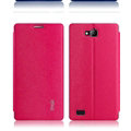 IMAK Squirrel Lines Leather Cases Support Holster Covers for Huawei Honor 3C - Rose