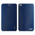 IMAK Squirrel Lines Leather Cases Support Holster Covers for Huawei Honor X1 7D-501U - Blue