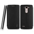 IMAK Squirrel Lines Leather Cases Support Holster Covers for LG G3 Beat G3mini - Black