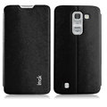 IMAK Squirrel Lines Leather Cases Support Holster Covers for LG Optimus G Pro 2 - Black