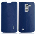 IMAK Squirrel Lines Leather Cases Support Holster Covers for LG Optimus G Pro 2 - Blue