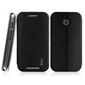 IMAK Squirrel Lines Leather Cases Support Holster Covers for Motorola E XT1021 XT1022 XT1025 - Black