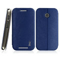 IMAK Squirrel Lines Leather Cases Support Holster Covers for Motorola E XT1021 XT1022 XT1025 - Blue