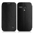 IMAK Squirrel Lines Leather Cases Support Holster Covers for Motorola G XT1028 XT1031 XT1032 - Black