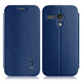 IMAK Squirrel Lines Leather Cases Support Holster Covers for Motorola G XT1028 XT1031 XT1032 - Blue