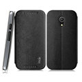 IMAK Squirrel Lines Leather Cases Support Holster Covers for Motorola G2 - Black