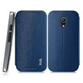 IMAK Squirrel Lines Leather Cases Support Holster Covers for Motorola G2 - Blue