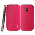 IMAK Squirrel Lines Leather Cases Support Holster Covers for Motorola G2 - Rose