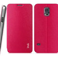 IMAK Squirrel Lines Leather Cases Support Holster Covers for Samsung Galaxy S5 Mini G870 G800 - Rose
