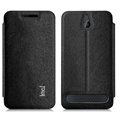 IMAK Squirrel Lines Leather Cases Support Holster Covers for Sony Xperia E1 - Black