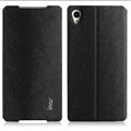 IMAK Squirrel Lines Leather Cases Support Holster Covers for Sony Xperia Z2 D6503 L50w - Black