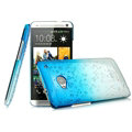 Imak Colorful Raindrop Cases Hard Covers for HTC One 802w 802t 802d - Gradient Blue