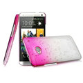 Imak Colorful Raindrop Cases Hard Covers for HTC One 802w 802t 802d - Gradient Rose