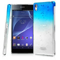 Imak Colorful Raindrop Cases Hard Covers for Sony Xperia Z2 D6503 L50w - Gradient Blue