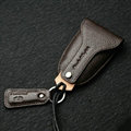 Funky Universal Genuine Leather Auto Key Bags Key Chain - Brown