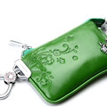 Import Universal Butterfly Genuine Leather Auto Key Bags - Green