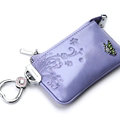 Import Universal Butterfly Genuine Leather Auto Key Bags - Purple