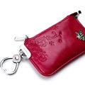 Import Universal Butterfly Genuine Leather Auto Key Bags - Rose