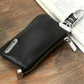Import Universal Genuine Leather Auto Key Bags - Black