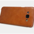Nillkin Qin Flip Leather Case Book Holster Covers for Samsung Galaxy A8 A8000 - Brown
