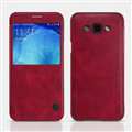 Nillkin Qin Flip Leather Case Book Holster Covers for Samsung Galaxy A8 A8000 - Red