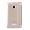 Nillkin Sparkle Flip Leather Case Book Holster Covers for Microsoft Lumia 532 - Gold