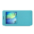 Nillkin Sparkle Flip Leather Case Book Holster Covers for Samsung Galaxy A5 A5000 - Blue