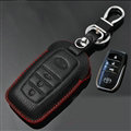 Simple Genuine Leather Auto Key Bags Smart for Toyota FJ Cruiser - Black Red