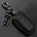 Simple Genuine Leather Auto Key Bags Smart for Toyota FJ Cruiser - Black