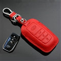 Simple Genuine Leather Auto Key Bags Smart for Toyota FJ Cruiser - Red