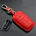 Simple Genuine Leather Auto Key Bags Smart for Toyota Reiz - Red