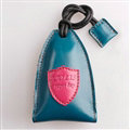 Special Universal Genuine Leather Oil Wax Auto Key Bags - Blue