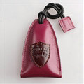 Special Universal Genuine Leather Oil Wax Auto Key Bags - Rose