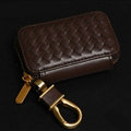 Special Universal Genuine Leather Square Auto Key Bags - Coffee