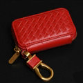 Special Universal Genuine Leather Square Auto Key Bags - Red