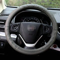 Cheap Car Steering Wheel Wrap Genuine Leather 15 Inch 38CM - Grey