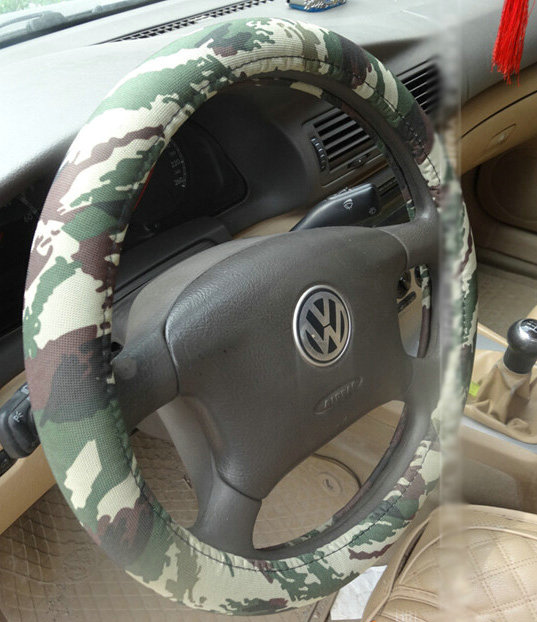 Buy Wholesale Cool Man Wave Camo Cloth Auto Steering Wheel Covers 15 Inch 38cm Green From