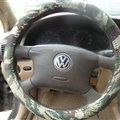 Cool Man Wave Camo Cloth Auto Steering Wheel Covers 15 inch 38CM - Green