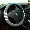 Fringe Auto Steering Wheel Wrap Velvet 15 Inch 38CM - Grey