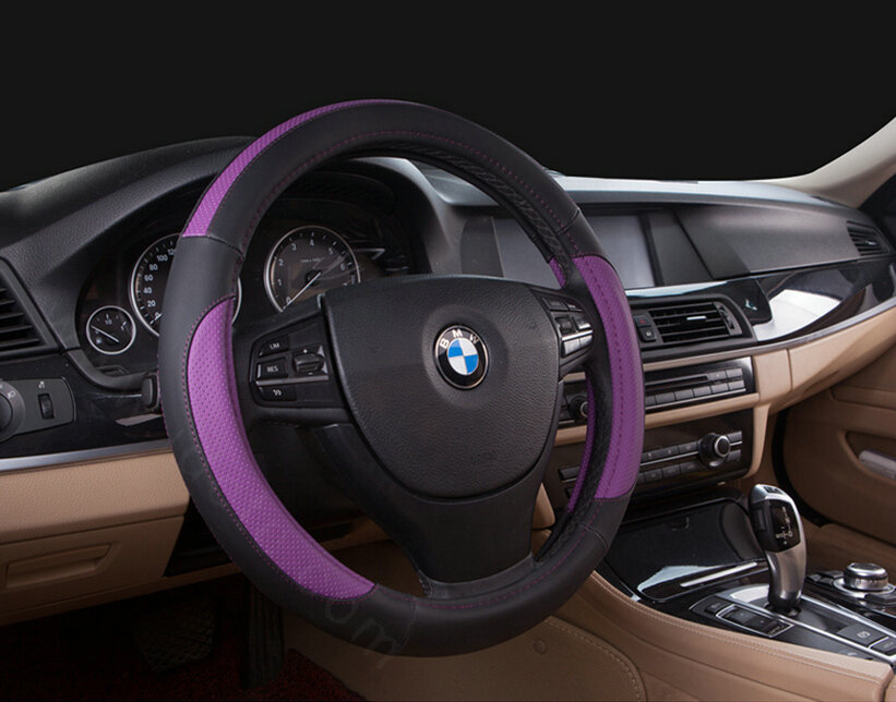 buy wholesale cooling car steering wheel wrap pvc 15 inch 38cm black purple from chinese. Black Bedroom Furniture Sets. Home Design Ideas