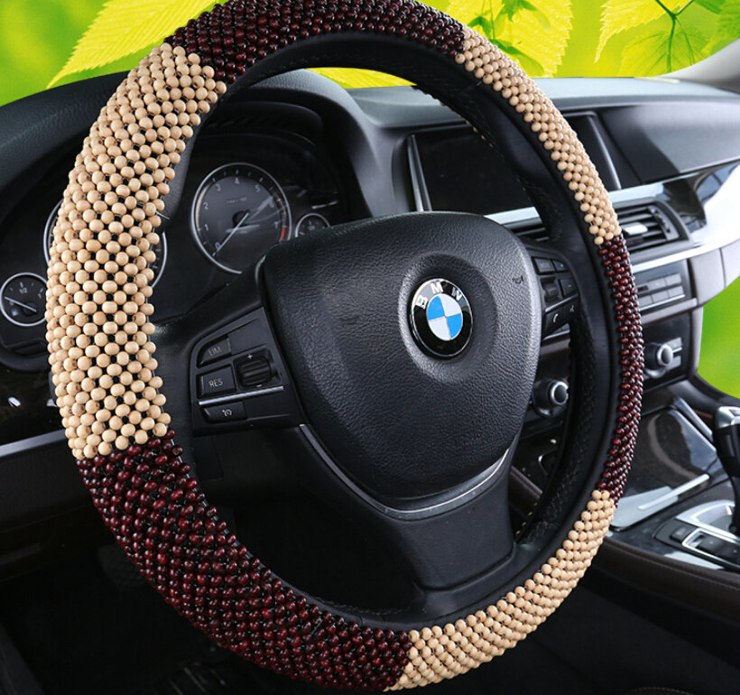 buy wholesale exquisite beaded car steering wheel wrap 15 inch 38cm red beige from chinese. Black Bedroom Furniture Sets. Home Design Ideas